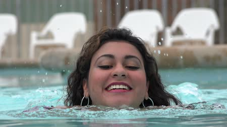 uszoda : Woman Swimming in Pool Stock mozgókép