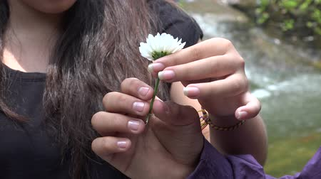 artrite : Teen Girl Holding Daisy Flower