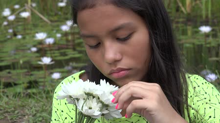 unloved : Sad and Lonely Hispanic Girl Stock Footage