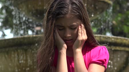 lonely : Sad and Lonely Young Girl Stock Footage