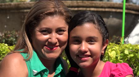 chicano : Hispanic Mother and Daughter at Park