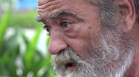 idade média : Bearded Elderly Man Talking
