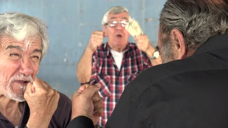 deli : Old Man Men Fight Anger Gambling