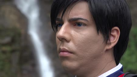 caracteres : Cosplay Man Acting Serious Stock Footage