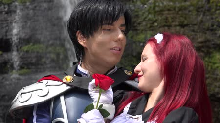 príncipe : Prince Kisses Maiden Cosplay Stock Footage