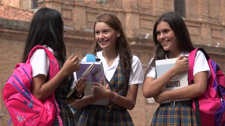 eighteen : Teen Girls Laughing Girls Having Fun Stock Footage