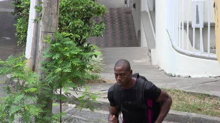 fitnes : Man Jogging Or Running Wideo