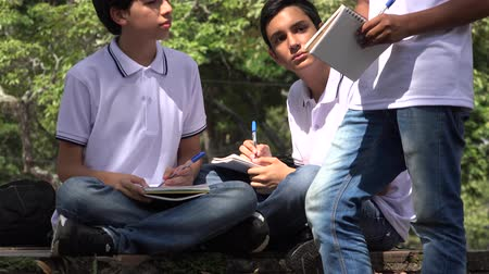 seminair : Teen Prep School Boys Stockvideo
