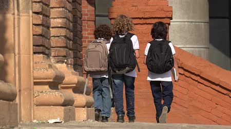seminair : Elementary School Kids Walking With Rugzakken