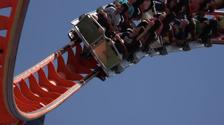 rolete : Fun Roller Coaster At Amusement Park