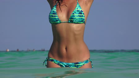 nedves : Woman With Bikini In Ocean Water