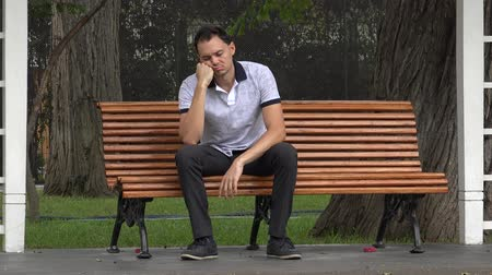 unloved : Lonely Man On Park Bench