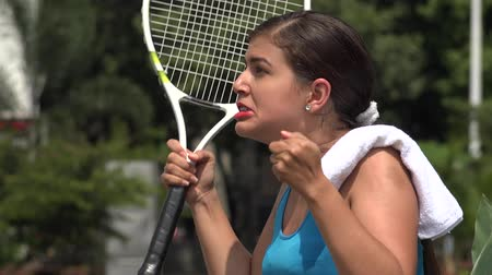 tennis player : Angry Female Tennis Player Over Loss