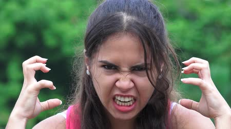 irritate : Female Teen And Anger
