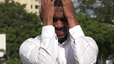 Black Man And Stress Stock Footage