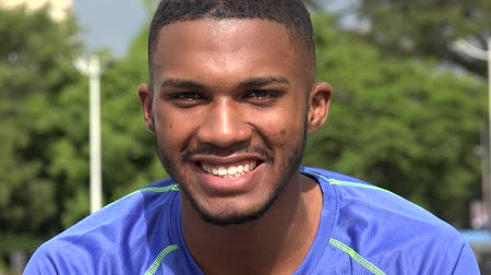 Smiling Black Male Athlete