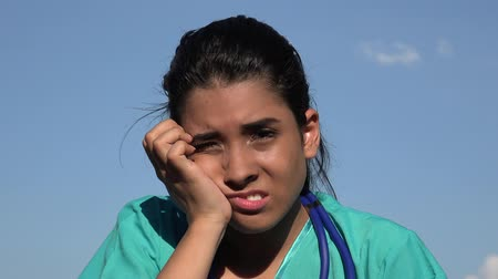 rana : Young Female Nurse Pain And Soreness