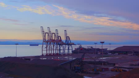 usa : Filename: San Francisco Bay Cranes.mp4 Aerial