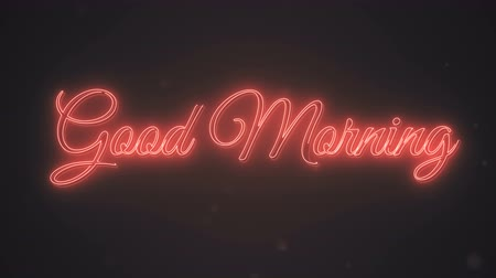 idiom : Good morning neon words