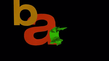alphabet : alphabet made from cutout pieces of coloured paper