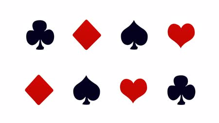 coringa : casino and playing cards animation Stock Footage