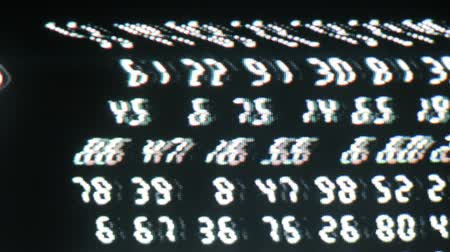 aritmética : Close-up of digital numbers sequence