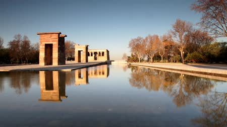 madryt : the el templo (temple of debod) monument in madrid