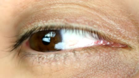 dilated pupil : close-up of eye looking around