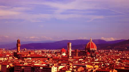 church : timelapse of florence skyline, italy