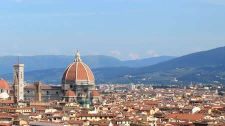firenze : timelapse of florence skyline, italy
