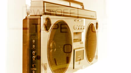 cassette : stopmotion of a fantastic looking retro ghetto blaster spinning around