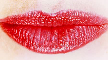 ruj : close-up lips of woman