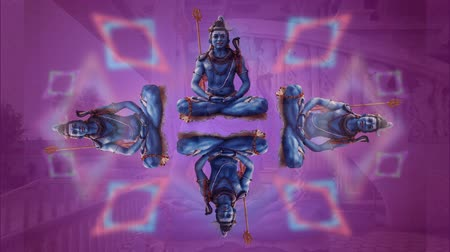shiva : sequence made from images of different religious statues and icons