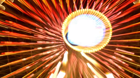 неон : abstract neon lights from a ferris wheel