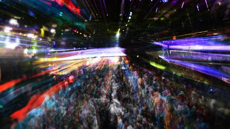 смешивание : abstract shot of a crowd at a nightclub