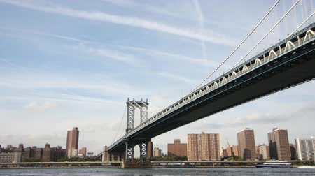 mosty : timelapse of manhattan bridge, new york Wideo