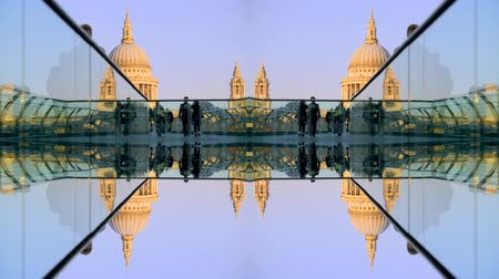 mosty : abstract view of st pauls cathedral, from millennium bridge, london