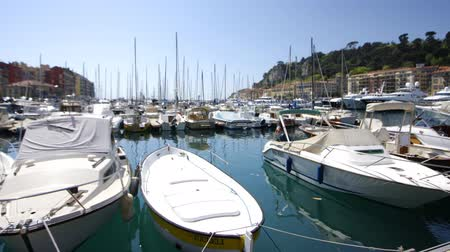 francja : view of yachts in Nice harbour france Wideo
