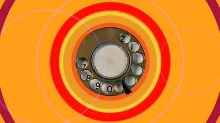 reciever : the dial of an old telephone, abstract clip
