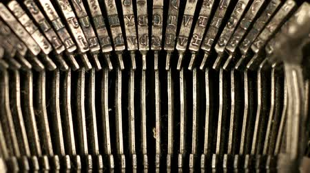 editorial : close-up of the the keys of an old typewriter. nice shapes and abstract patterns