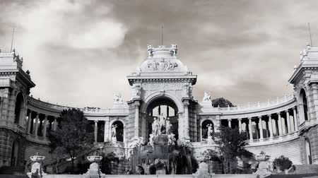 engravings : timelapse of palais longchamp, marseille