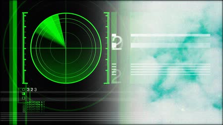 radars : motion graphics clip of radar, avaition and meteorological data and information