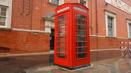 london england : sequence of images of londons famous red telephone boxes