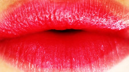 boca aberta : lips of woman Stock Footage