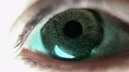 augen : close-up of eye looking around