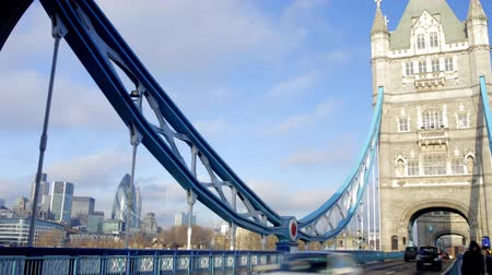 tower bridge : timelapse shot of tower bridge in london, on a nice sunny day, london