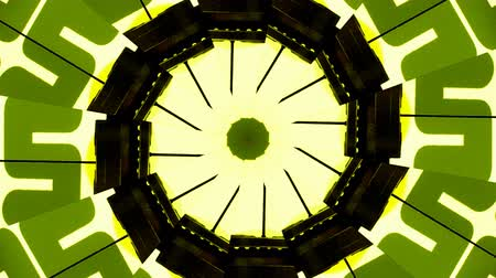psicodélico : Abstract kaleidoscope pattern made from stop motion clip of a vintage clock, numbers Vídeos