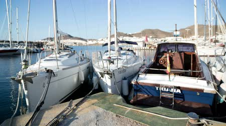 cabo san jose : Boats moored in san jose harbour, cabo de gata, spain