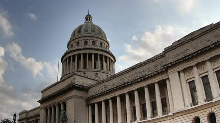 histórico : timelapse of the capitolio building in the centre of havana, cuba