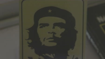 kuba : a sequence of found images of che guevara put together to make a stop motion, havana, cuba Stock mozgókép